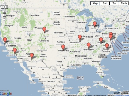 Westboro Baptist Protests-Interactive Map